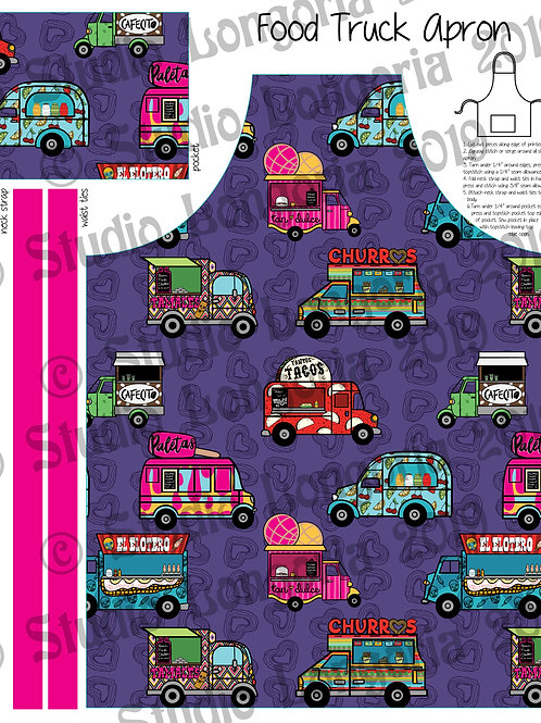 DIY Apron Fabric Panel Food Trucks