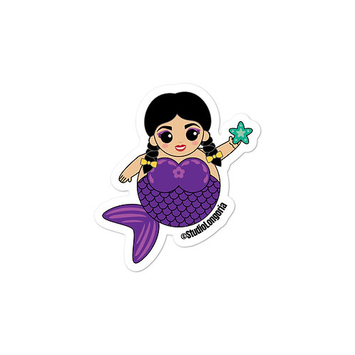 Purple Sirena Bubble-free stickers