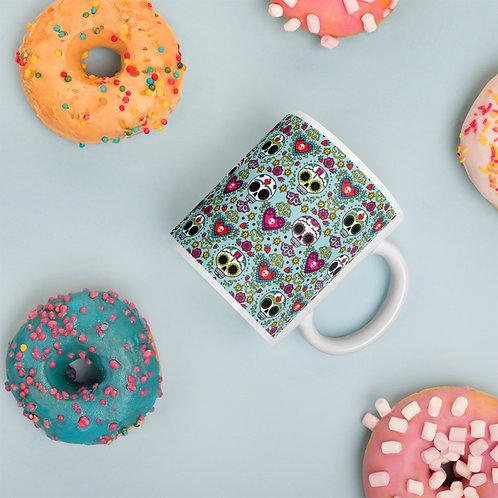 Calaveras y Corazons Coffee Mug