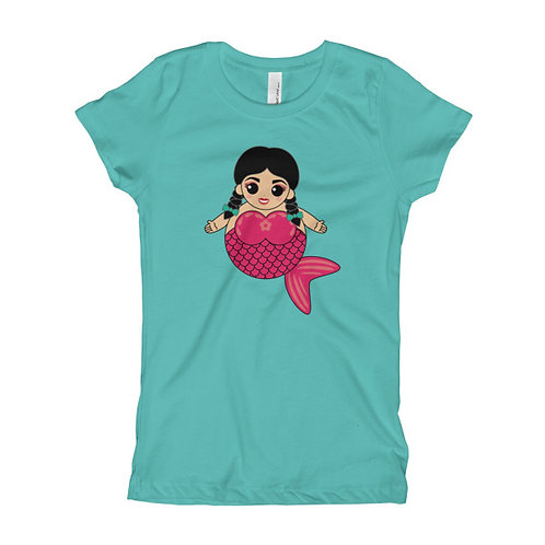 Pink Sirena Girl's Slim Fit Tee