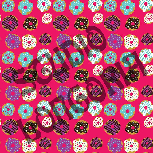 Pink Donuts Fabric