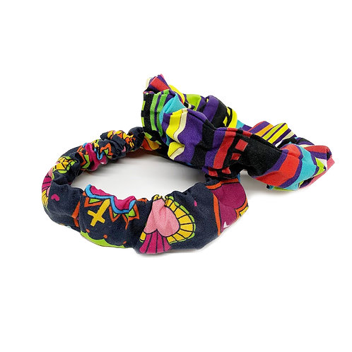 Corazones and Serape Scrunchies