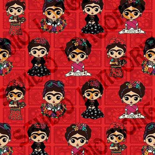 Red La Artista Fabric
