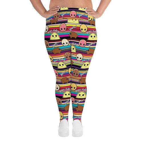 Pan Dulce Print Women's Plus Size Leggings