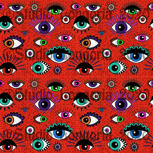 Mal de Ojo Fabric Red