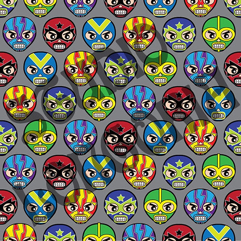 Lucha Masks Fabric
