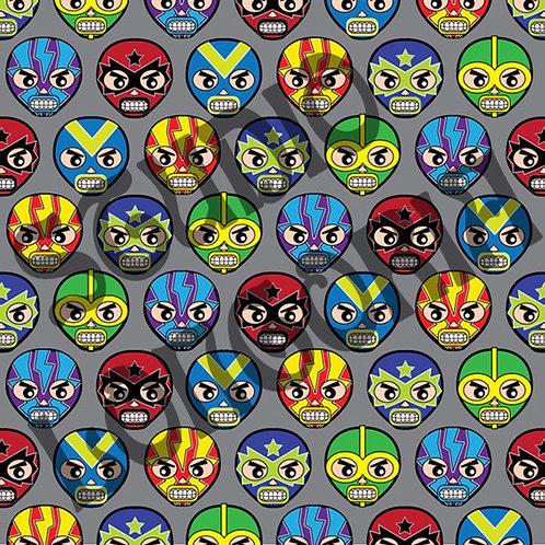 Lucha Masks Fabric