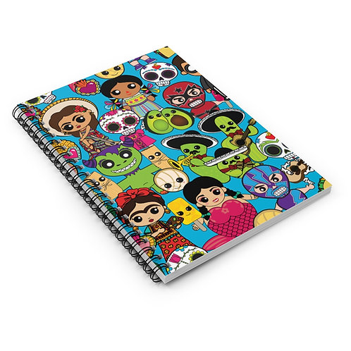 Latinx Pop Culture Spiral Notebook - Ruled Line