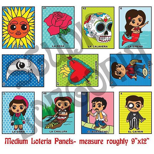 Loteria Medium Panels Fabric