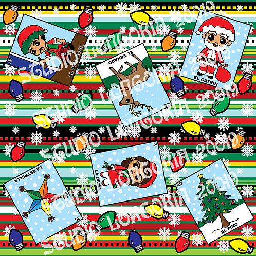 Christmas Loteria Fabric