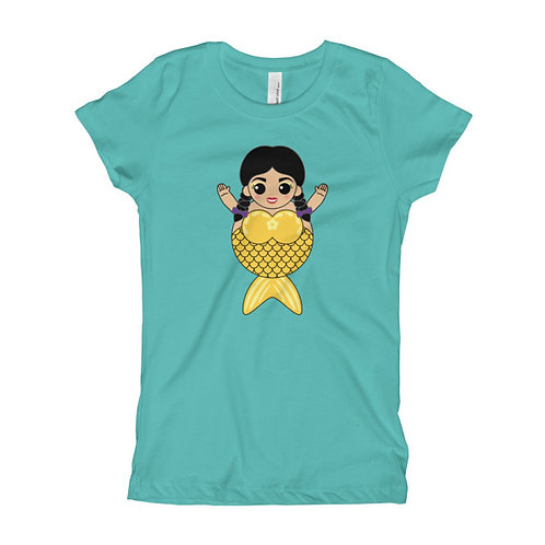 Yellow Sirena Girl's Slim Fit Tee