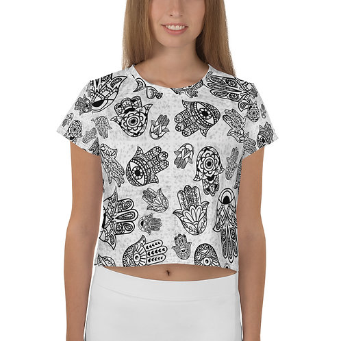 Hand of Fatima All-Over Print Crop Tee