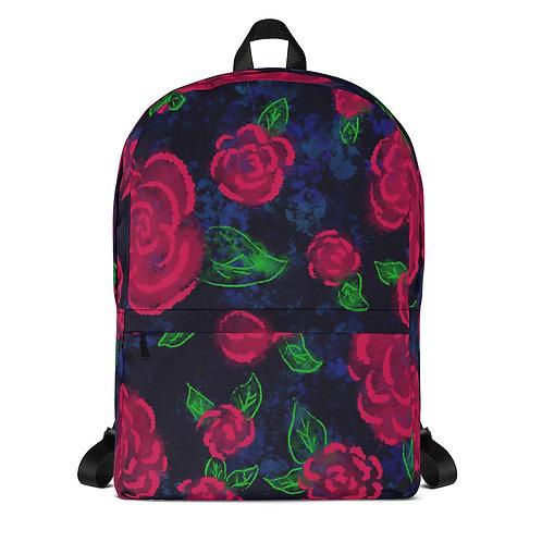 Neon Blooms Backpack