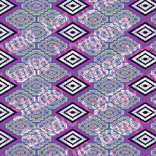 Modern Serape- Purple Diamonds
