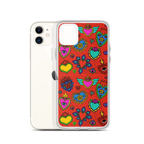 Corazon Milagros iPhone Case
