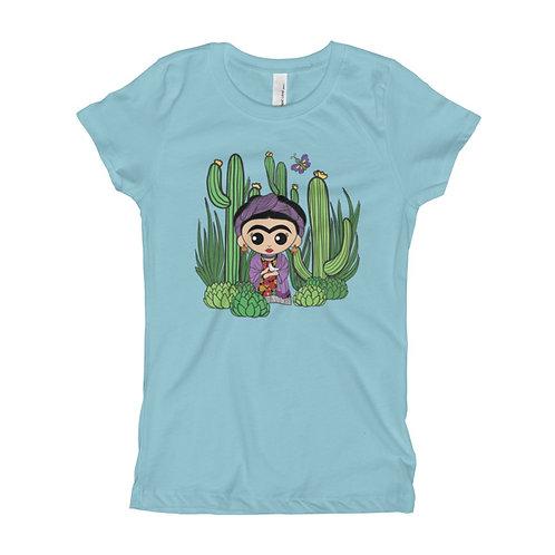 Frida Dove Girl's Slim Fit Tee