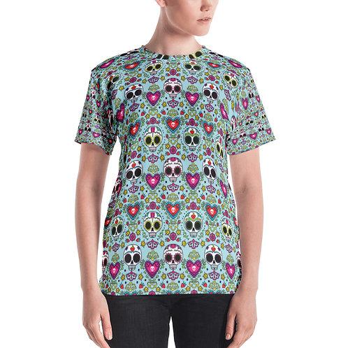 Calaveras Y Corzons Print Women's T-shirt