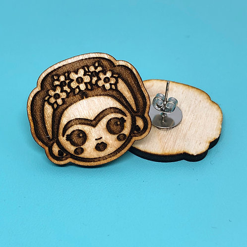 Laser Cut Frida Stud Earrings