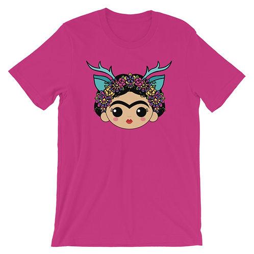 Frida Venado Azule Adult Unisex T-shirt