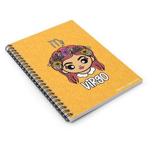 Virgo Spiral Notebook - Ruled Line