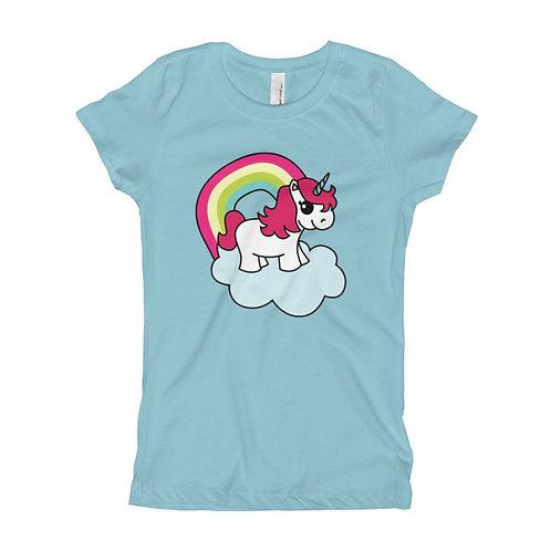 Unicorn Girl's Slim Fit Tee