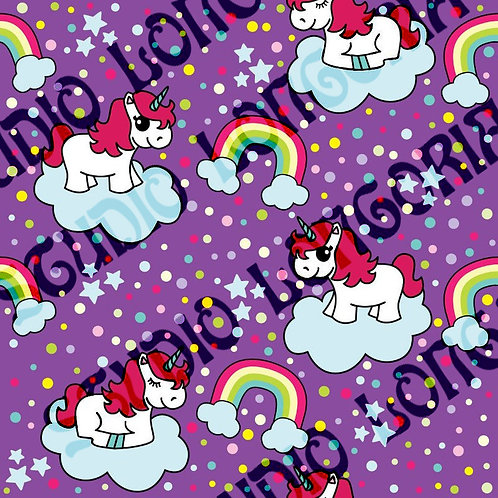 Purple Unicorns Fabric