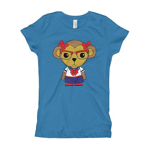 Nerdy Monkey Girl's Slim Fit Tee