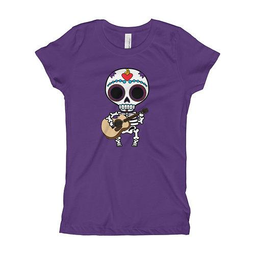 Musical Muerto Girl's Slim Fit Tee