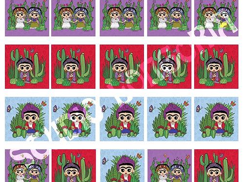 La Artista Nopales Mini Panels Fabric 1yd