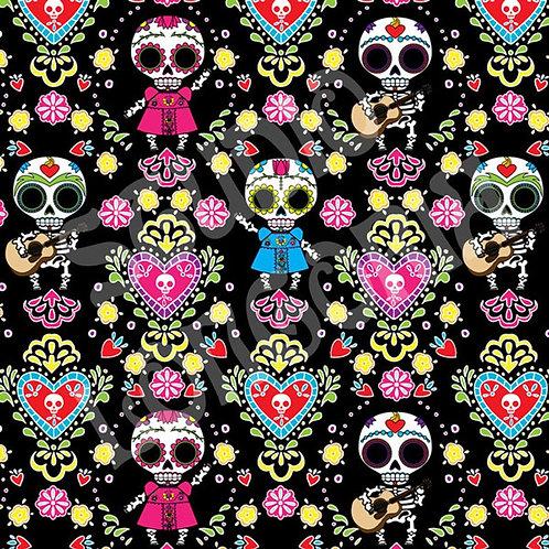 Dia De Los Muertos Fabric