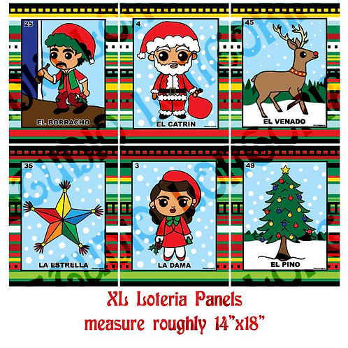Christmas Loteria XL Panels Fabric