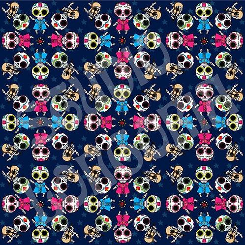 Dia De Los Muertos Fiesta Fabric