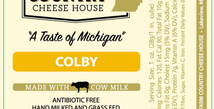 Farm Country Cheese House Colby 8oz