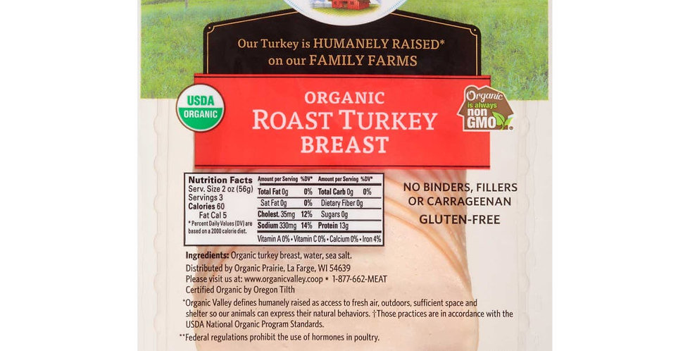 Organic Turkey Breast Deli Meat 6oz