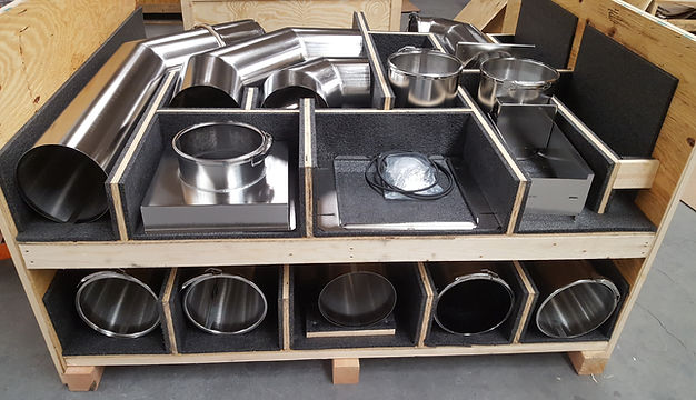Duct kit, semiconductor, electro polised, stainless duct, clamped duct