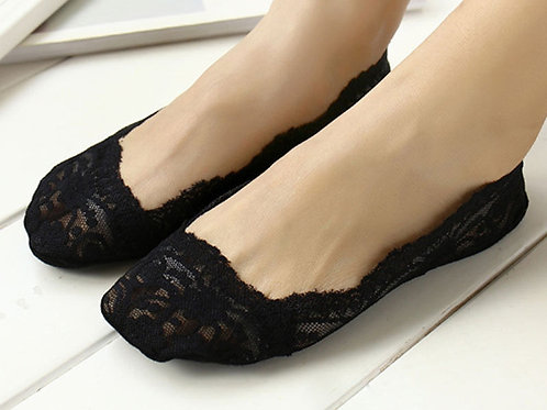 Low lace socks (black colour) - Package of 3 pairs