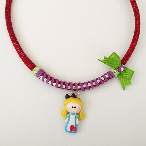 Alice in Wonderland Necklace -red