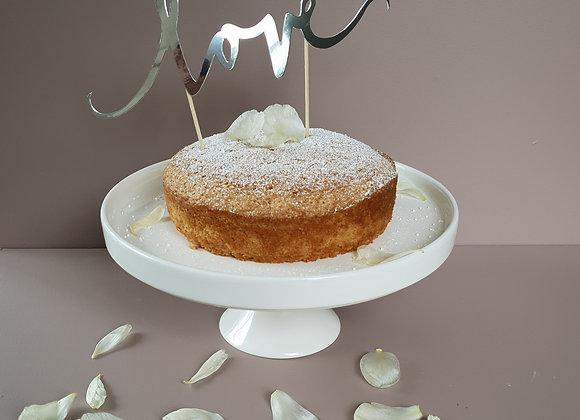 Cake topper silver Love