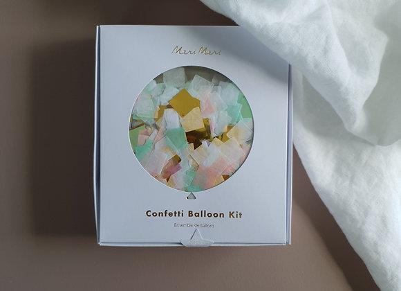 Konfetti ballongkit skimrande regnbågsfärger