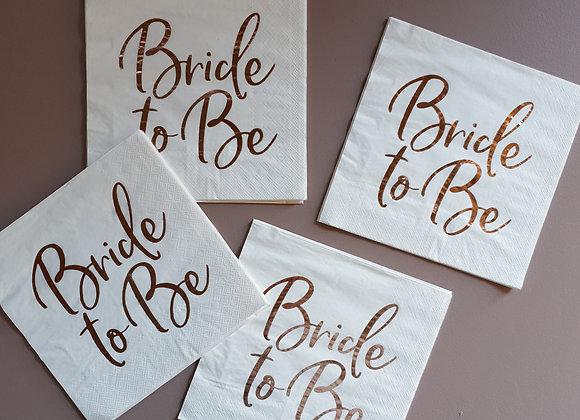 Servett vit Bride to be