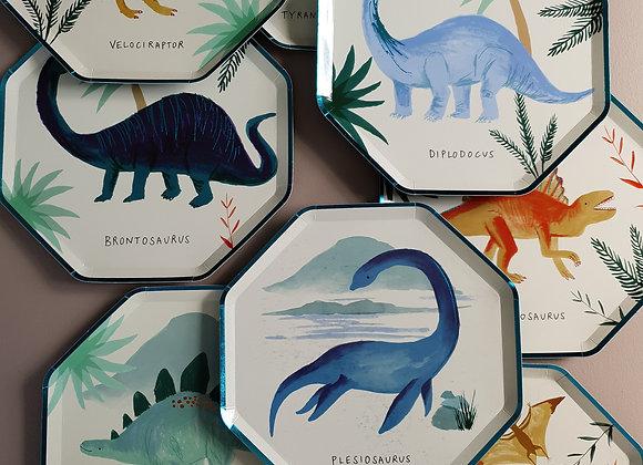 Papperstallrikar dinosaurie