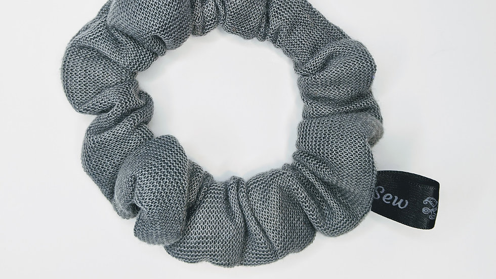 Gray mesh scrunchie