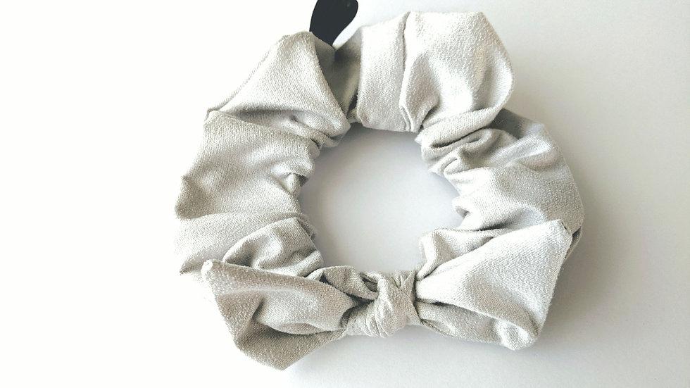 Light gray scrunchie