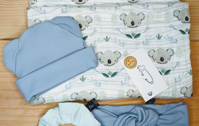 Baby blue koala set