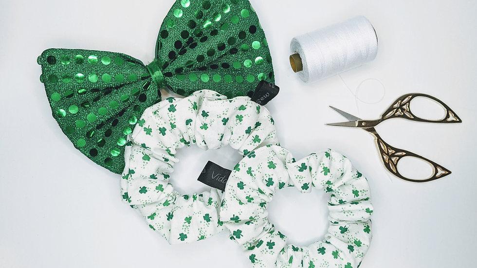 Four leaf clover 🍀 scrunchies