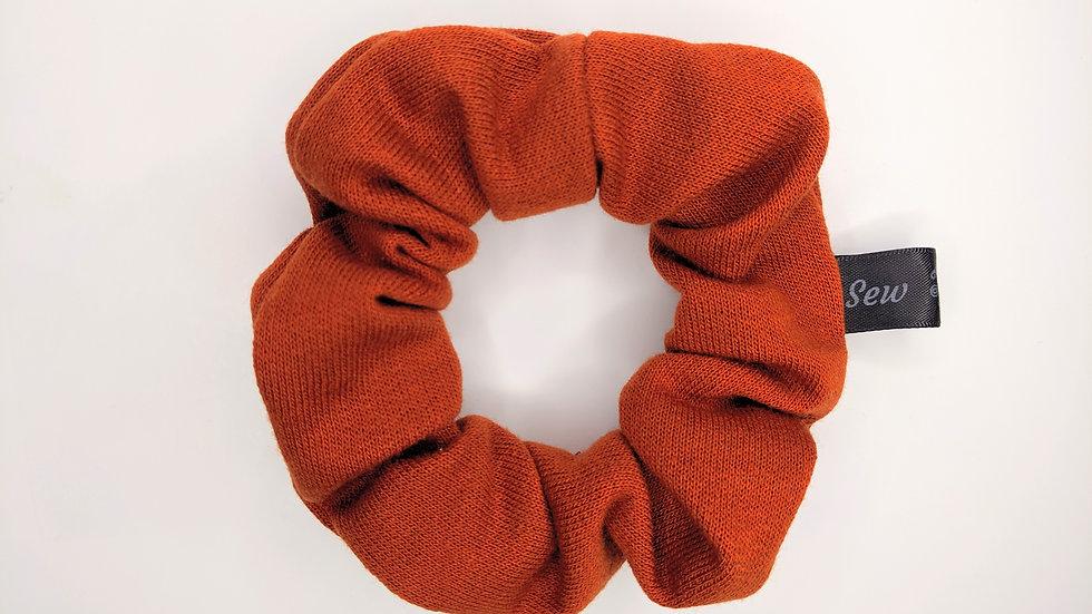 Fire orange scrunchie