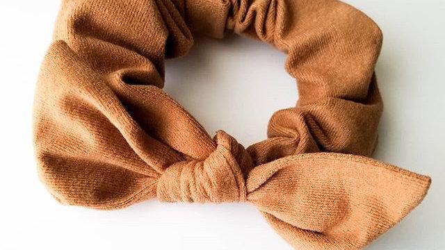 Caramel soft scrunchie