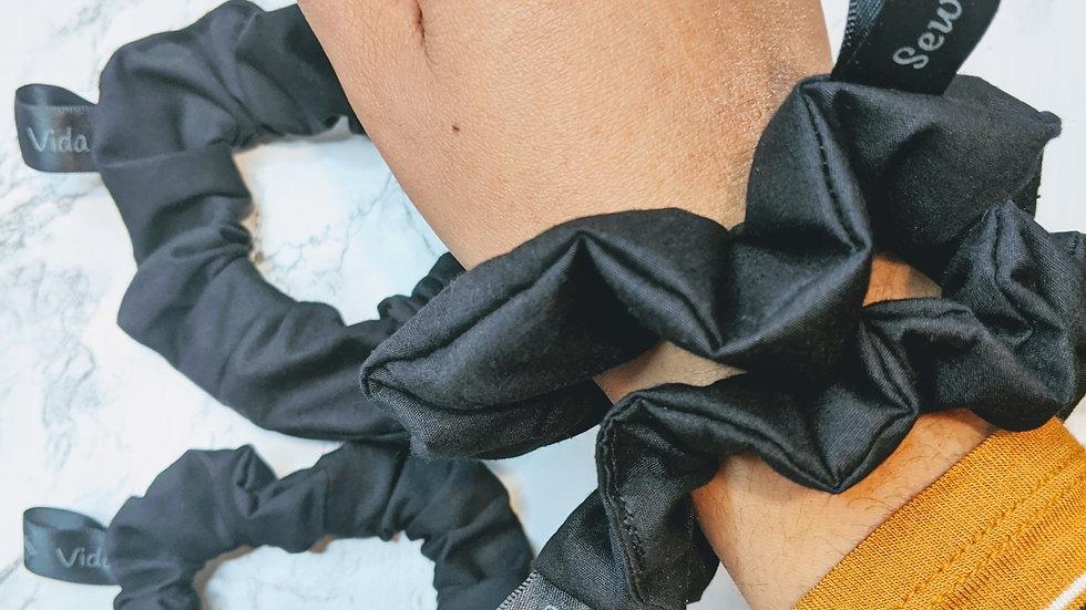 4 black scrunchie bundle