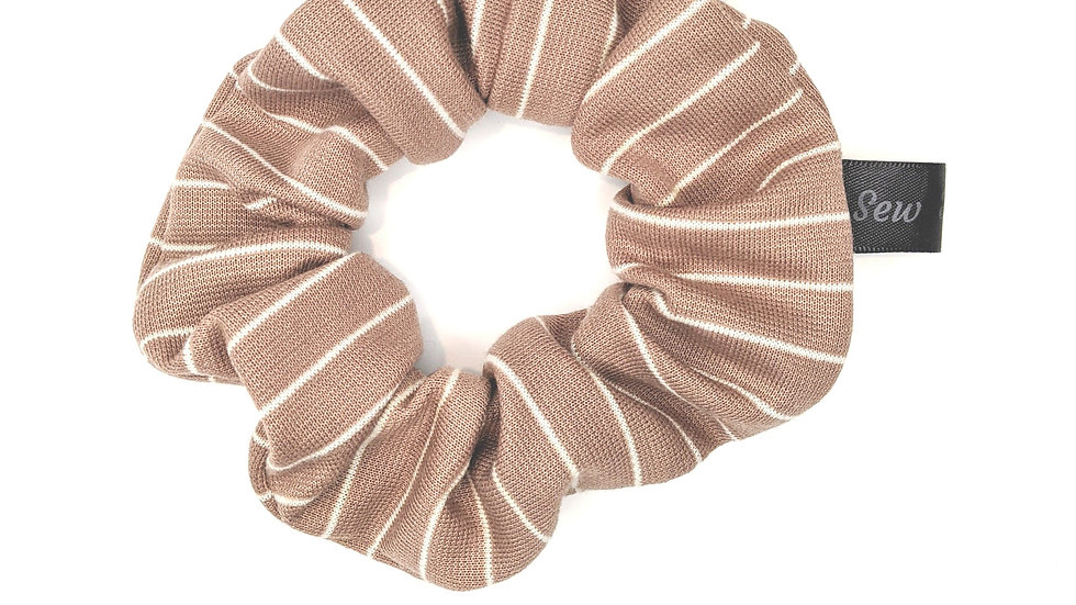 Tawny brown striped scrunchie