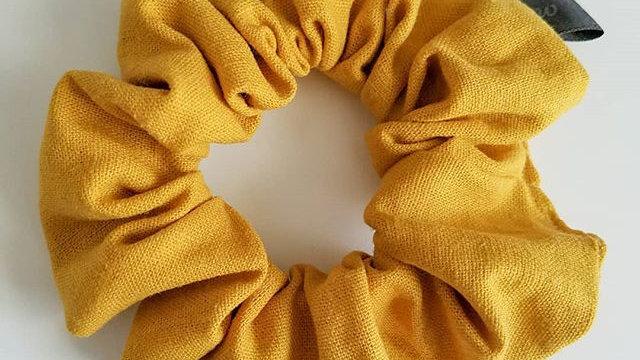 Mustard yellow scrunchie